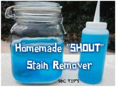 """Homemade """"Shout"""" Stain Remover DIY recipe"""