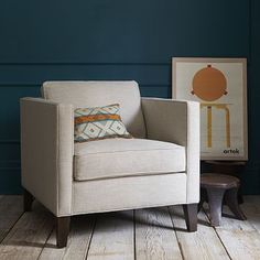 Dunham Down-Filled Armchair - Boxed (Solids) #westelm - like the shape - not necessarily the color