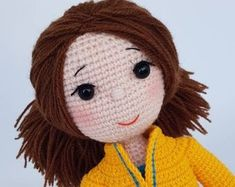 Crochet doll Amigurumi doll Eco-friendly gifts Gift for girl Handmade knitted doll Dressed doll Crochet toy Cute soft doll Christmas gift Knitted toy Birthday gift Collectible doll Children's toy Cute soft toy Dolls Knitted Dolls, Crochet Toys, Soft Dolls, Amigurumi Doll, Christmas Sale, Gifts For Girls, Doll Toys, Hello Kitty, Birthday Gifts