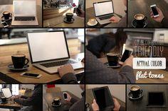 10 Real Photo Apple Device Mock-Ups by ZedProMedia on Creative Market