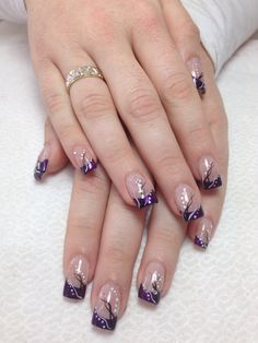 Fill 🙂 For other models, you can visit the category. For more ideas, please visit … Pink Black Nails, Purple Nail Art, Purple Nail Designs, Gold Glitter Nails, Pretty Nail Art, Beautiful Nail Art, Cool Nail Designs, French Nail Art, French Nail Designs