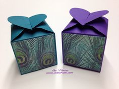 Peacock Wedding Favors Peacock Feathers Peacock Favor Boxes Purple Favors Teal Favors  on Etsy, $36.10 CAD