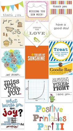 Free Positive Printables - use for Project Life