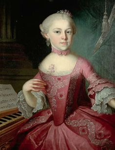 Maria Anna, gen. Nannerl, Mozart als Kind, 1763, Pietro Antonio Lorenzoni (?) (artist, Italian, 1721-1782), Stiftung Mozarteum Salzburg collection http://www.mozarteum.at/en.html