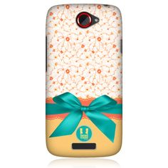 e_cell - Head Case Teal Laces and Ribbons Design Protective Back Case Cover for HTC One S
