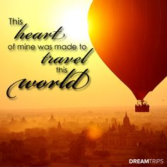 This heart of mine was made to travel this world. #dreamtrips #travel #ysbh