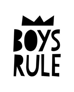Boys Line Printable Poster Black White Crown Nursery Boys Room Funny Quote Cutout Crown Text Poster