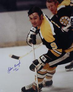 John Bucyk Action Photo Print x Ice Hockey Teams, Hockey Players, Boston Sports, Boston Red Sox, Poke The Bear, Bobby Orr, Boston Bruins Hockey, Vancouver Canucks, National Hockey League