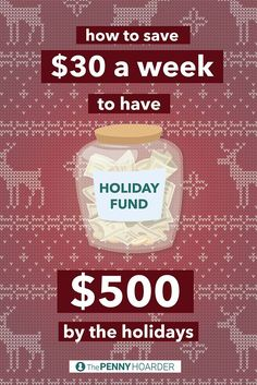 Avoid struggling to find money for holiday shopping. With this savings plan, you'll have $500 in your holiday budget by Black Friday. /thepennyhoarder/                                                                                                                                                     More