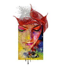 """Colorful & sad....?  (by: Sharonnnnnn)"" by sharonnnnnn ❤ liked on Polyvore featuring art"