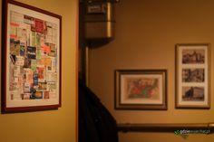 Collage of entrance and transport tickets from our journeys / Kolaż biletów wstępu i komunikacyjnych z naszych podróży powieszony na ścianie w przedpokoju #DIY #travel #design Travel design