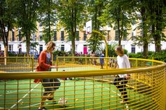 Milner Square in Islington wins Children's Play award Landscape Architecture, Landscape Design, Government News, Community Space, Playground Design, Urban Park, Conceptual Design, Open Up, Landscaping