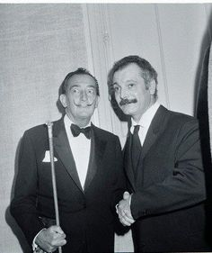Salvador Dali and Georges Brassens