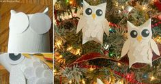 Make Your Own Snow Owl Ornaments in Minutes- AMAZING! http://www.allcreated.com/diy-snow-owl-ornaments/