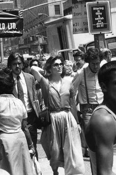 July 20, 1978.  Jackie Kennedy walking in New York City.