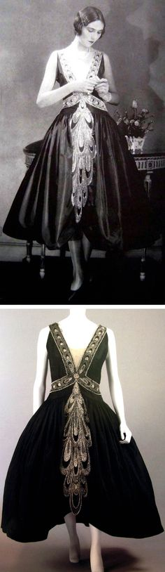 Lanvin robe de style, ca. 1926. Scanned from Lanvin by Dean Merceron via…