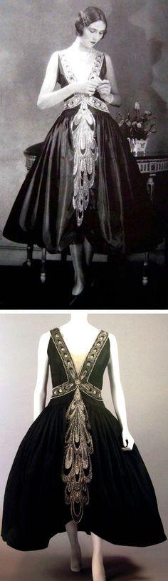 Lanvin robe de style, ca. 1926. Scanned from Lanvin by Dean Merceron via…