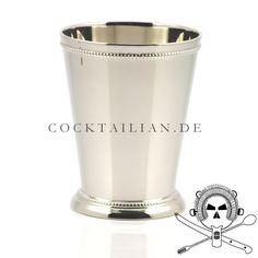 Versilberter Edelstahlbecher für Juleps und Prince of Wales-Cocktails.  Für eleganten und anspruchsvollen Drink-Service und authentische Zubereitung von klassischen Cocktails.