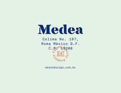 Medea on Behance - design color mint, blue, little red