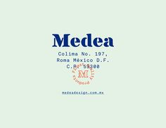 Medea on Behance - design color mint, blue, little red