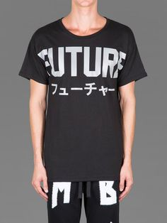 No602_999MISBHV SHORT SLEEVED T-SHIRT WITH FUTURE PRINT