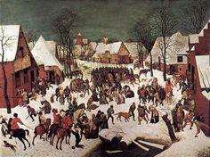 1565-1566 The Massacre of the Innocents - Pieter Bruegel the Elder. Titulo original: De moord op de Onnozele Kinderen