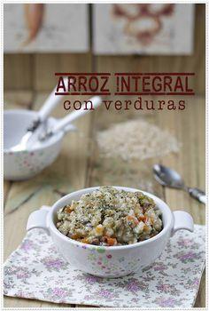 Arroz integral con verduras {by Paula, Con las Zarpas en la Masa}