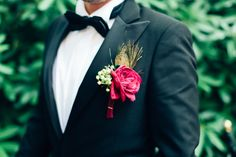 Flowers for the groom