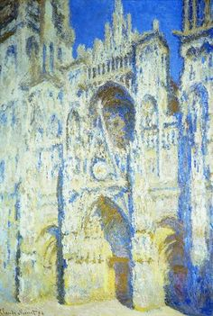 """Claude Monet, la Cathédrale de Rouen. Le portail et la tour Saint-Romain, plein soleil   """"Tutto cambia, persino le pietre"""""""