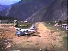 Hair-raising landing at Lukla Airport in Nepal