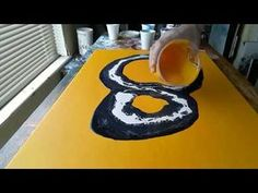 Acrylic Fluid Pouring,Another Technique.. - YouTube