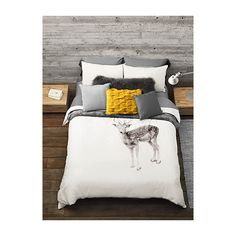 Simons Maison Fawn duvet cover set (£41) ❤ liked on Polyvore featuring home, bed & bath, bedding, duvet covers, king size pillow shams, twin bedding, king duvet cover sets, white shams and white king shams