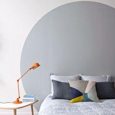 Tête de lit peinture rond