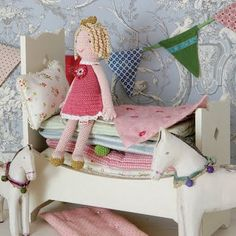 Adorable Princess and the Pea Doll and bed from Maileg.