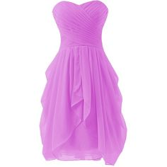 Bbonlinedress Chiffon Bridesmaid Dress Short Homecoming Dance Gown ($55) ❤ liked on Polyvore featuring dresses, gowns, short evening dresses, pink ball gown, bridesmaid dresses, chiffon bridesmaid dresses and pink evening gowns