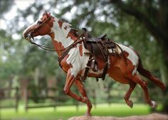 """from Realistic Equine Art by Nikki Button.....This is a commissioned portrait of """"Sakina"""", a beautiful chestnut Overo mare owned by Lindsay M. Tack made by Pam Perkins."""