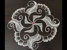 How to make easy and simple/unique border rangoli designs by Jyoti Rathod,rangoli,festival rangoli Free Hand Rangoli Design, Small Rangoli Design, Rangoli Ideas, Colorful Rangoli Designs, Rangoli Designs Diwali, Rangoli Designs Images, Beautiful Rangoli Designs, Kolam Rangoli, Mehndi Images