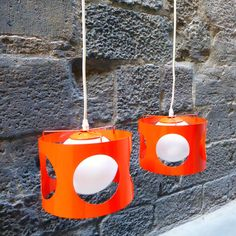 Space Age Pendant Lamp 70s by Mementosbcn on Etsy