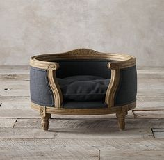 Your pet can feel like a prince or princess with a bed like this from #RestorationHardware