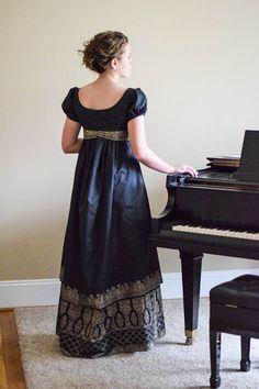 Regency Dress Reenactment Costume and Formal by garlandofgrace