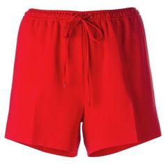 Alexander Wang Red Tailored Track Short (£350) ❤ liked on Polyvore featuring shorts, red, red shorts, tailored shorts, alexander wang shorts, alexander wang and short shorts