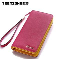 Women Genuine Leather Evening Party Bag Mobile Wallet Wrist Handbag Organizer