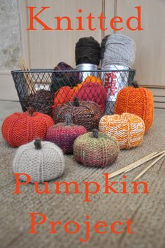 DIY Knit Pumpkins