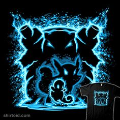 """Evolution of Water"" by XD Threads. Illustrated by Pertheseus. Can you feel the waves of power? Water type Pokémon — Squirtle, Wartortle, Blastoise. [Sold at Shark Robot]"