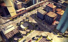 City by Maxim Goudin, via Behance
