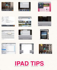 iPad TOUCH this image: Ipad tips by daniela includes how to save website to Homepage