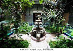 Islamic garden in Tanger, Morocco, Africa by Rechitan Sorin, via ShutterStock