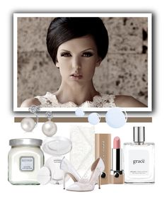 """Simply white #2."" by babysnail ❤ liked on Polyvore featuring Accessorize, Laura Mercier, Estée Lauder, Bling Jewelry, Topshop, philosophy, Marc Jacobs and SJP"