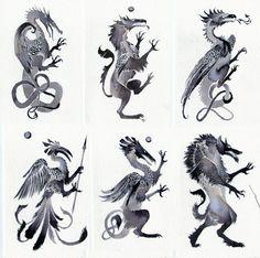 Heraldic Beasts by Rhynn on DeviantArt