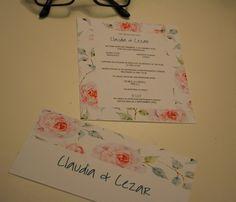 invitatii personalizate nunta trandafiri